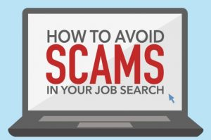 Click to open our job scam infographic